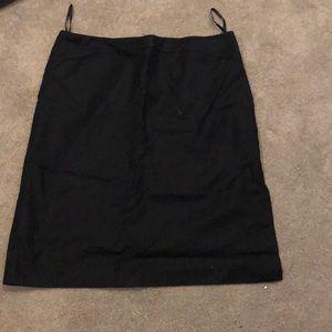 Dresses & Skirts - Black linen skirt